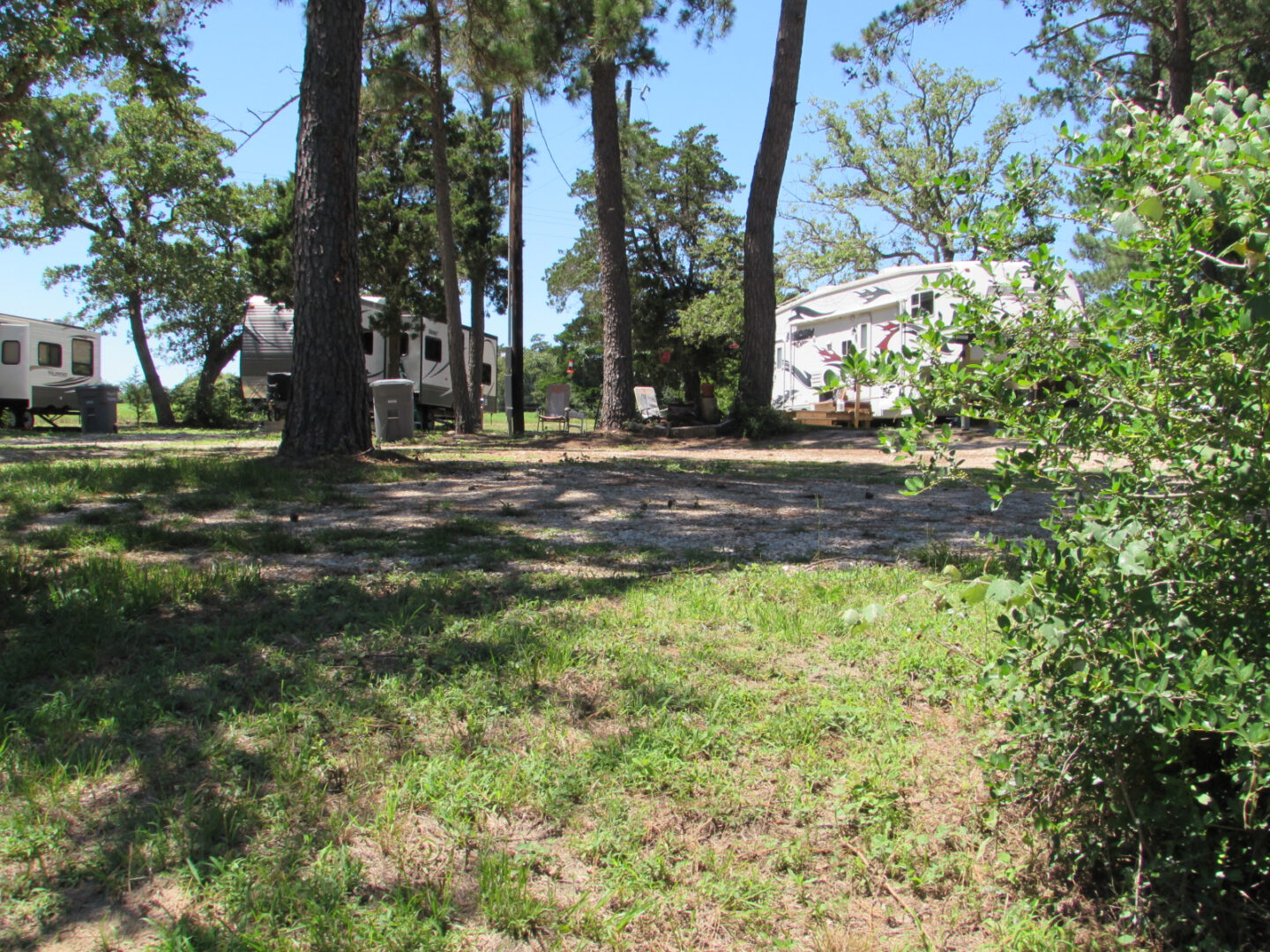 A field for recreational vehicle parking