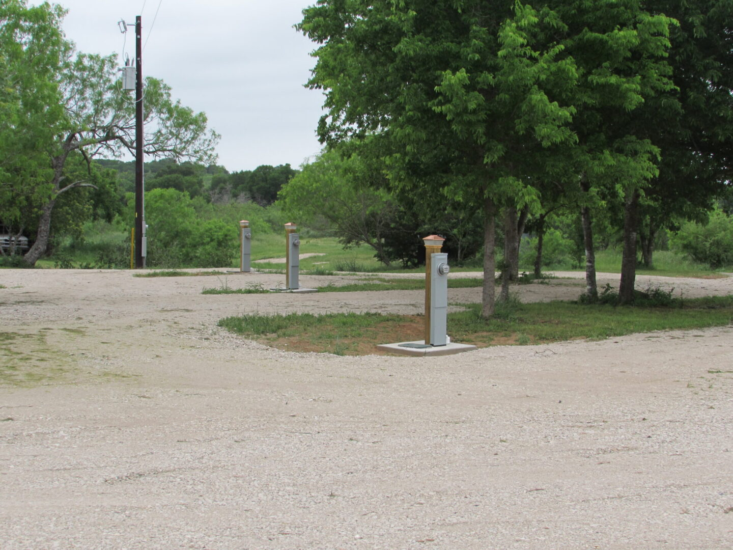 The different spaces at Home Again RV Park